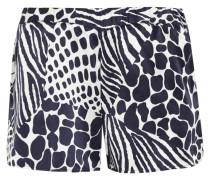 Landis Shorts Aus Vorgewaschener Seide Mit Animal-print -
