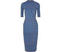 Kleid in Rippstrick mit Rüschen -