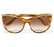 Polygamy Sonnenbrille Mit Cat-eye-rahmen Aus Azetat Mit Vergoldeten Details - Horn