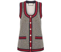 Weste Aus Tweed Aus Einer Baumwollmischung Mit Ripsbandbesatz -