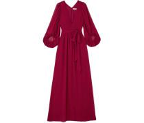 Fortuny Robe Aus Chiffon Mit Plissee -
