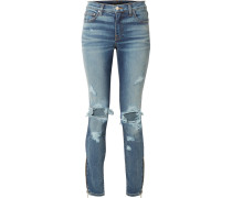 Thrasher Hoch Sitzende Skinny Jeans in Distressed-optik -