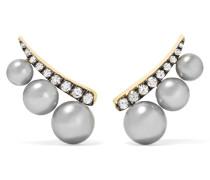 Ohrringe Aus 18 Karat  Mit Diamanten Und Perlen