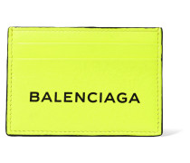 Bedrucktes Kartenetui aus Neonfarbenem Leder -