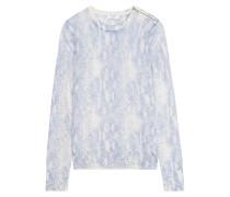 Ondine Pullover Aus Einer Seiden-kaschmirmischung Mit Intarsienmuster - Blau