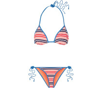 Gestreifter Triangel-bikini -
