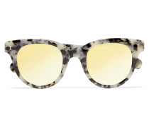 Sicilia Verspiegelte Sonnenbrille Mit Cat-eye-rahmen Aus Azetat -