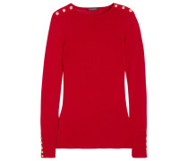 Verzierter Pullover Aus Einer Woll-kaschmirmischung - Rot
