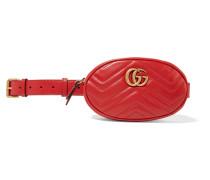 Gg Marmont Gürteltasche aus Gestepptem Leder -