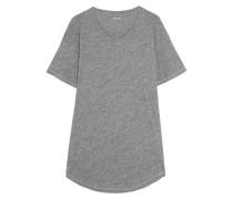 Whisper T-shirt aus Baumwoll-jersey mit Flammgarneffekt -