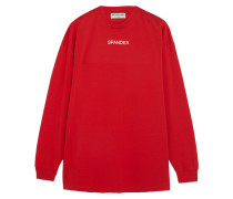 Oversized-sweatshirt Aus Bedrucktem Baumwoll-jersey Mit Stretch-anteil -