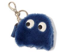 Ghost Schlüsselanhänger Aus Shearling Mit Lederbesatz - Königsblau
