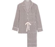 Landon bedruckter Pyjama aus vorgewaschener Seide