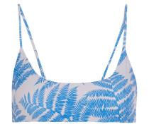 Hermosa Bedrucktes Bikini-oberteil - Azurblau