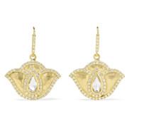 Thamarai Lotus Ohrringe aus 18 Karat  mit Topasen und Diamanten