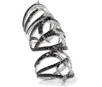 Thorn Ring Aus 18 Karat Weißgold Mit Diamanten