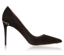 Pumps Aus Veloursleder Mit Horsebit-detail -