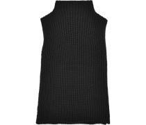 Veranda Rollkragenoberteil Aus Einer Gerippten Baumwollmischung - Schwarz