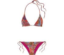 Bedruckter Triangel-bikini -