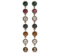 Brünierte farbene Ohrringe Mit Kristallen
