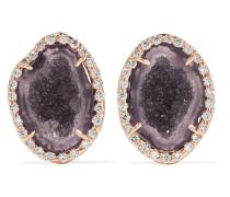 Ohrringe Aus 18 Karat Rosé Mit Geoden Und Diamanten