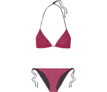Mare Bikini Aus Strick In Häkeloptik Mit Metallic-effekt -