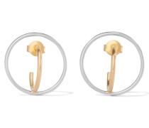 Saturn In  Getauchte Und Silberfarbene Ohrringe