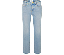 Le Nouveau Halbhohe, Verkürzte Jeans mit Geradem Bein -
