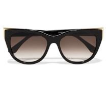Epiphany Sonnenbrille Mit Cat-eye-rahmen Aus Azetat Und Goldfarbenem Metall - Schwarz