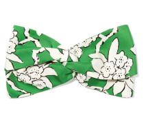 Haarband aus Seiden-twill mit Blumendruck -