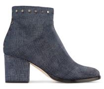 Melvin Nietenbesetzte Ankle Boots Aus Bedrucktem Leder -
