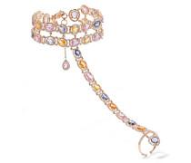 Armband Aus 18 Karat  Mit Diamanten Und Saphiren