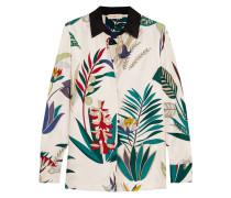 Madison Bedrucktes Hemd Aus Seiden-twill - Weiß