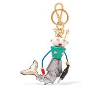 Verzierter Schlüsselanhänger Aus Strukturiertem Leder -