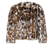 Jacke Aus Faux Fur Mit Leopardenprint - Leoparden-Print