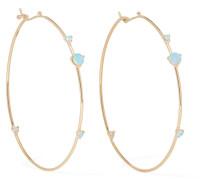 Ohrringe aus 14 Karat  mit Opalen und Diamanten