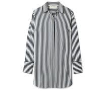 Isadora Oversized-hemd aus einer Gestreiften Baumwollmischung -