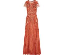 Verzierte Robe Aus Leavers-spitze -
