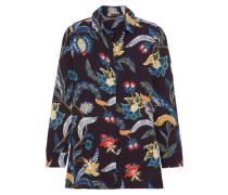 Hemd aus Crêpe mit floralem Print