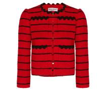Gestreifte Jacke Aus Bouclé-tweed Aus Einer Baumwollmischung -