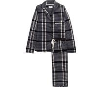 Fierce Chills Pyjama Aus Kariertem Fleece -