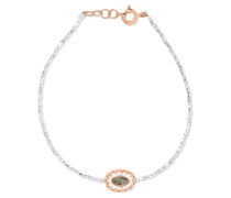 Montauk Armband Aus 9 Karat , Silber Und Bakelit® Mit Türkis
