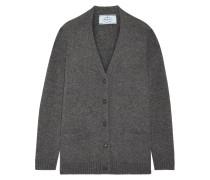 Cardigan Aus Einer Woll-kaschmirmischung Mit Velourslederbesatz -
