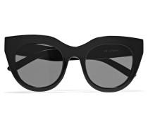 Air Heart Sonnenbrille Mit Cat-eye-rahmen Aus Azetat - Schwarz