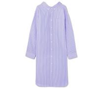 Gestreiftes Hemdblusenkleid Aus Baumwollpopeline In Oversized-passform -
