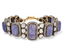 Armband Aus 14 Karat Gold Und Sterling Mit Tansaniten Und Diamanten