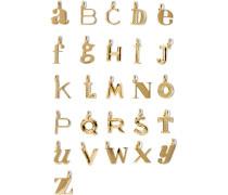Alphabet Letter A–z Buchstabenanhänger Mit -vermeil