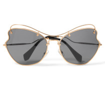 Scenique Sonnenbrille Mit Goldfarbenem Cat-eye-rahmen