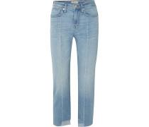 Cruiser Halbhohe Jeans mit Geradem Bein in Distressed-optik -