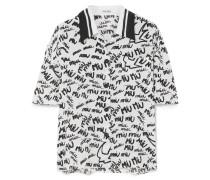 Bedrucktes Seidenhemd aus Crêpe De Chine -